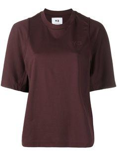 Y-3 футболка с круглым вырезом