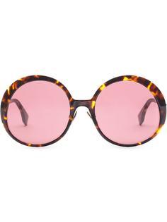 Fendi солнцезащитные очки Promeneye в круглой оправе