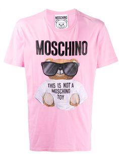 Moschino футболка с принтом Teddy