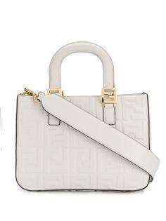 Fendi маленькая сумка-тоут с узором FF