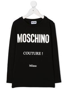 Moschino Kids футболка с логотипом