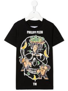 Philipp Plein Junior футболка King Plein с принтом Skull