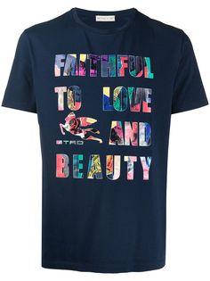 Etro футболка с надписью