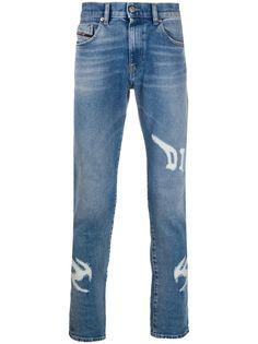 Diesel джинсы скинни D-Strukt с прорезями