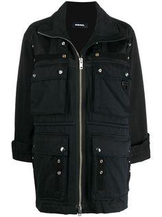 Diesel куртка в стиле милитари со вставками