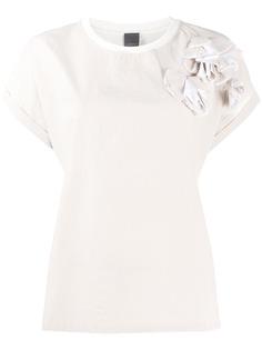 Lorena Antoniazzi футболка с цветочной аппликацией