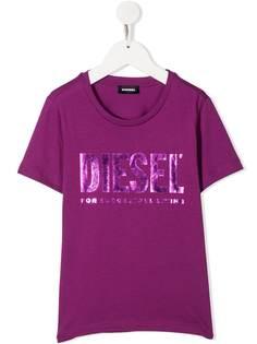 Diesel Kids футболка с короткими рукавами и логотипом