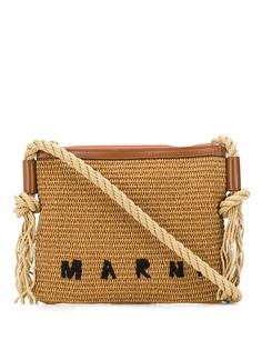 Marni плетеная сумка на плечо с логотипом