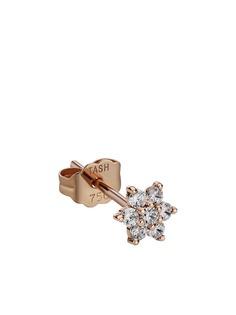 Maria Tash единичная серьга-гвоздик из розового золота с бриллиантами