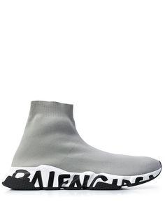 Balenciaga кроссовки Speed с принтом граффити
