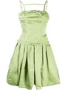 Louis Vuitton расклешенное платье pre-owned со сборками