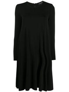 Emporio Armani платье-трапеция с круглым вырезом