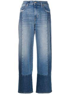 Diesel широкие джинсы в технике пэчворк