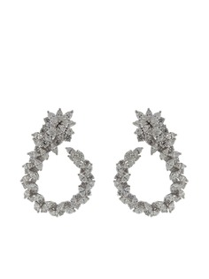 Yeprem серьги-кольца из белого золота с бриллиантами