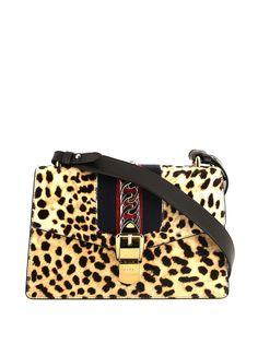 Gucci Pre-Owned сумка на плечо Sylvie с леопардовым принтом