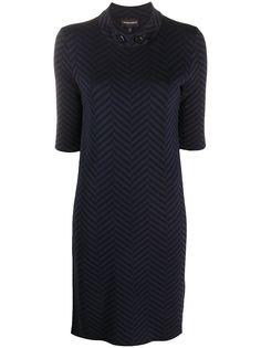 Emporio Armani платье с узором в елочку