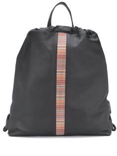 Paul Smith полосатый рюкзак с кулиской