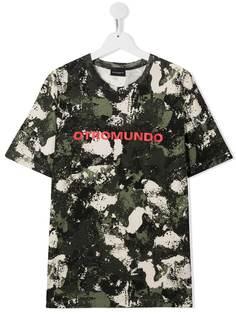 Marcelo Burlon County Of Milan Kids футболка с камуфляжным принтом