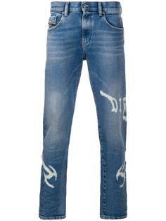 Diesel прямые джинсы с логотипом