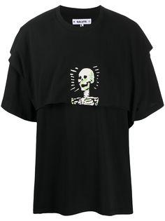Salute многослойная футболка с принтом