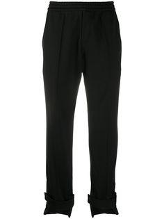 Y-3 спортивные брюки строгого кроя с манжетами