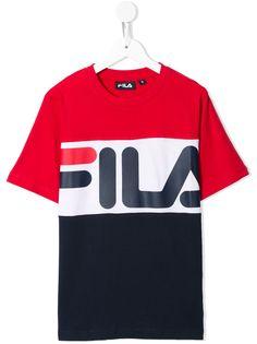 Fila Kids футболка в стиле колор-блок с логотипом