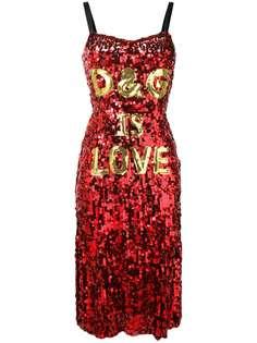 Dolce & Gabbana платье D&G is Love с пайетками
