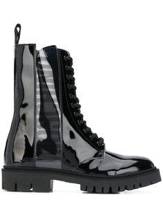 Moschino ботинки в стиле милитари