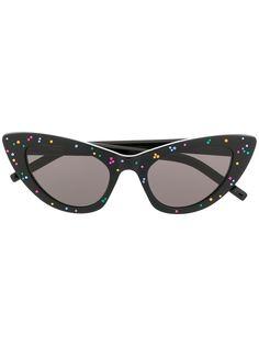 Saint Laurent Eyewear солнцезащитные очки New Wave SL 213 в оправе кошачий глаз