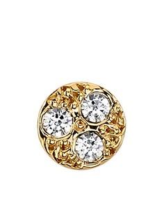 BVLA золотая серьга-гвоздик с бриллиантом