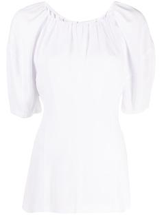 Marni футболка со складками и пышными рукавами