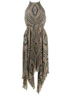 Michael Michael Kors плиссированное платье с геометричным принтом