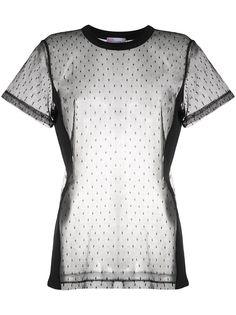 RedValentino прозрачная футболка в горох