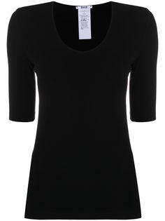 Wolford приталенная футболка с короткими рукавами