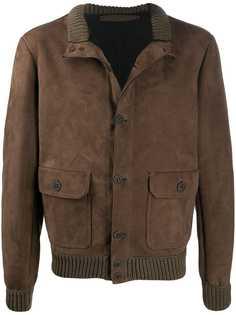 Salvatore Santoro куртка с отделкой в рубчик