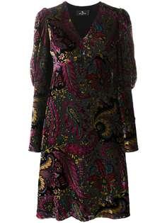 Etro расклешенное платье с принтом пейсли