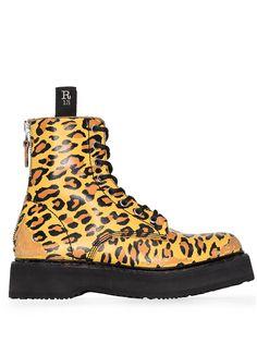 R13 ботинки с леопардовым принтом