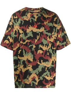 424 камуфляжная футболка с логотипом