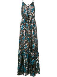 LANVIN вечернее платье с цветочной вышивкой
