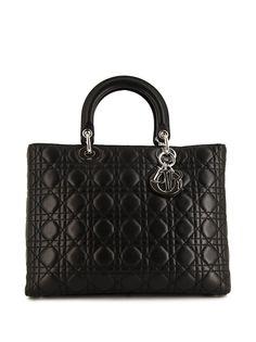 Christian Dior большая сумка Lady Dior pre-owned
