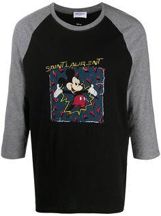 Saint Laurent футболка с принтом Mickey Mouse