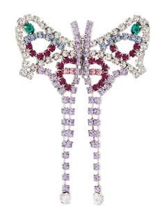 AREA брошь в форме бабочки с кристаллами