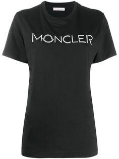 Moncler футболка с аппликацией-логотипом