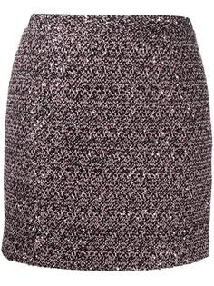 Alessandra Rich юбка мини с завышенной талией