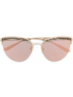 Bvlgari солнцезащитные очки B.zero1 в полуободковой оправе кошачий глаз