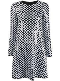 Emporio Armani расклешенное платье с пайетками