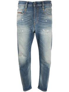 Diesel укороченные джинсы с эффектом потертости
