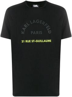 Karl Lagerfeld футболка с принтом Address