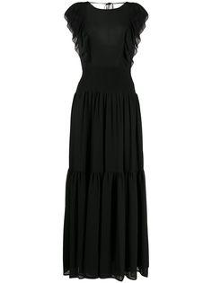 Michael Michael Kors платье макси с оборками