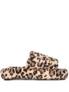 Natasha Zinko слиперы с леопардовым принтом